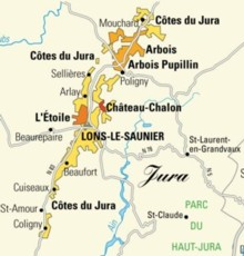 Map Of France Jura.Winetourisminfrance The Jura S Vineyards